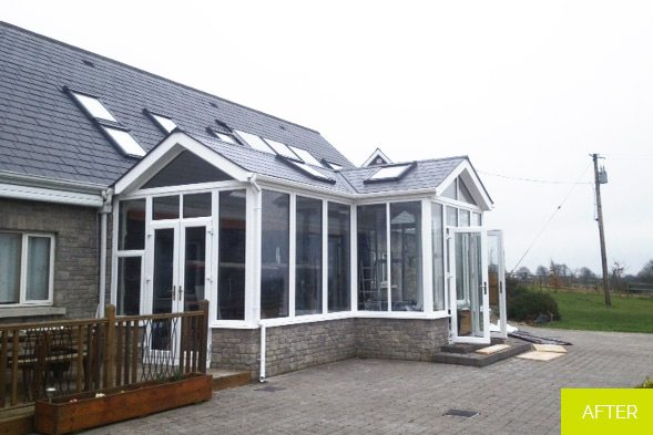 After - Replacement of Conservatory with new Sunroom in Westmeath