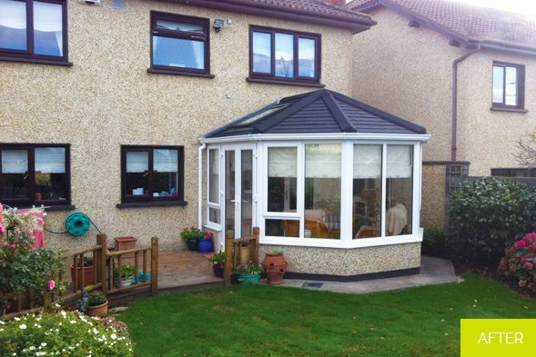 After - Replacement of a conservatory - Dublin