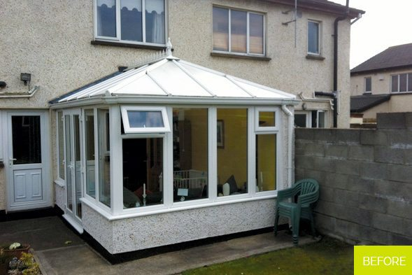 Before - Replacement of Conservatory roof with new slate