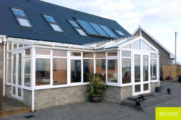 Before - Replacement of Conservatory with new Sunroom in Westmeath
