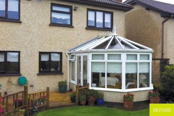 Before - Replacement of a conservatory - Dublin