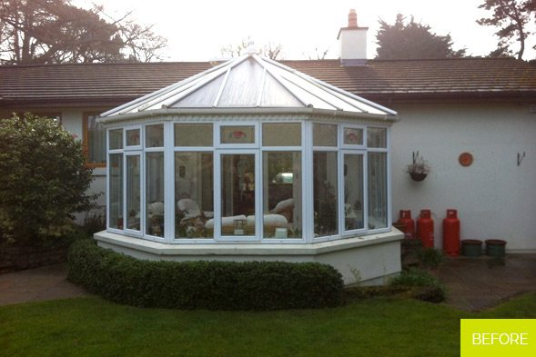 Before - Victorian Conservatory Replacement in Killiney