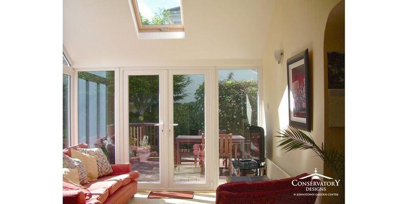 Interior of Sunroom Lean-to by Conservatory Designs