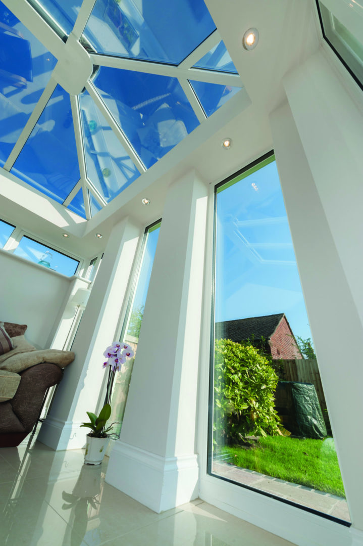Conservatory Pillars With Full Length Glass
