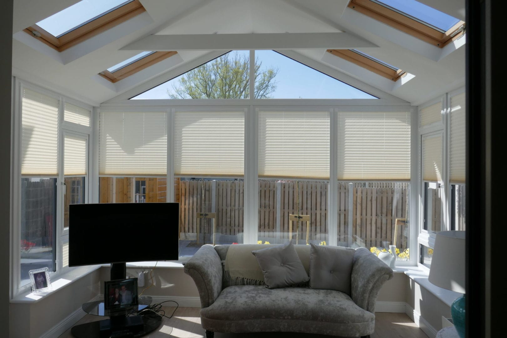 Gable Front Sunroom Without Pillars Internal