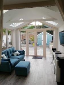 White Roof Beam and White Roof Windows